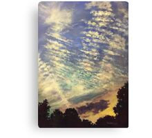 The Clouds That Morning Canvas Print