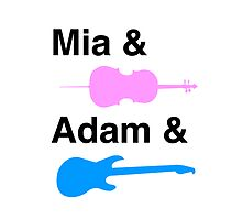 Mia & (Cello) & Adam & (Guitar). by Samantha Weldon