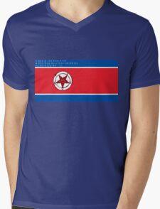 North Korea x Satan Mens V-Neck T-Shirt