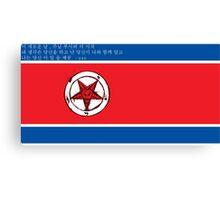 North Korea x Satan Canvas Print