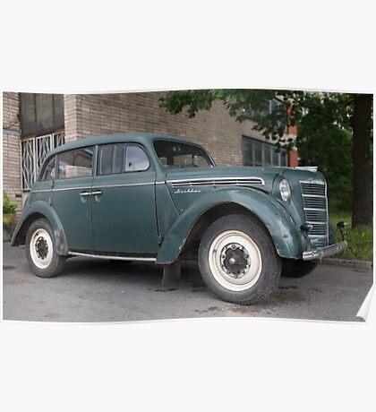 Vintage car Moskvich-400 Poster