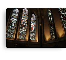 Stain-Glass Church  Canvas Print