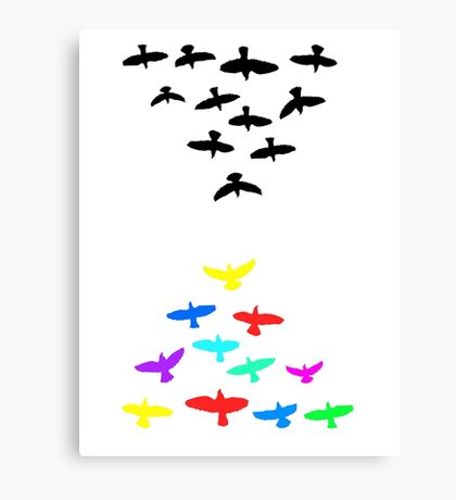 flight of the birds Canvas Print