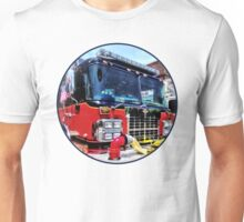 Front of Fire Truck With Hose Unisex T-Shirt