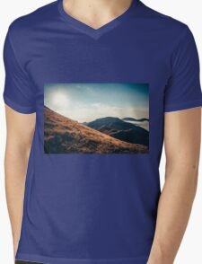 Mountains in the background XXIII Mens V-Neck T-Shirt