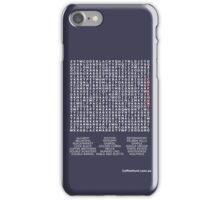 Name Your Sydney Coffee Roaster (White) iPhone Case/Skin