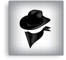 Bandit hat and bandana Canvas Print