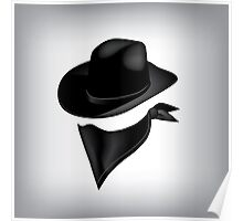 Bandit hat and bandana Poster
