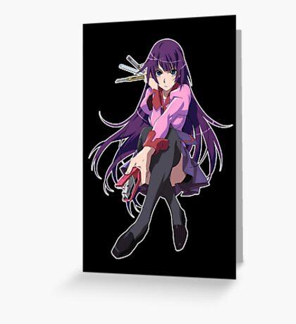 Hitagi Senjougahara Bakemonogatari Greeting Card