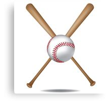 Baseball bats and baseball Canvas Print