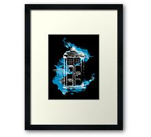 Watery TARDIS Framed Print