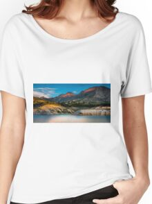 Early light on the mountains and the water Women's Relaxed Fit T-Shirt