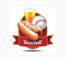 Baseball hot dog and beer design Unisex T-Shirt