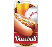 Baseball hot dog and beer design iPhone Case/Skin