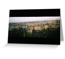 Leith from Calton Hill, Edinburgh Greeting Card