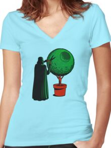 LORD VADER GARDENER Women's Fitted V-Neck T-Shirt