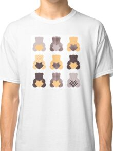Retro abstract Teddy bear collection Classic T-Shirt