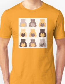 Retro abstract Teddy bear collection Unisex T-Shirt