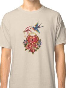 Old school True Love Lock and Key tattoo Classic T-Shirt