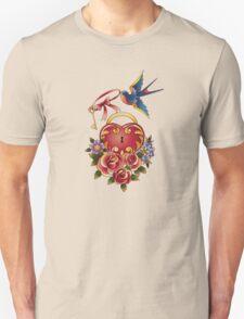 Old school True Love Lock and Key tattoo Unisex T-Shirt