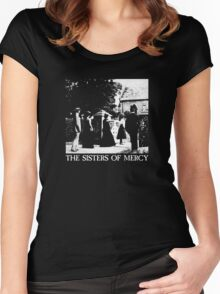 The Sisters of Mercy - The Worlds End - The Damage Done Women's Fitted Scoop T-Shirt