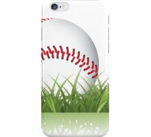 Baseball in the grass iPhone Case/Skin