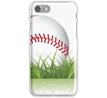 Baseball in the grass iPhone Case/Skin