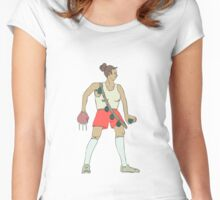 WAR G1RLZ 3: Lupe the Lacerator. Women's Fitted Scoop T-Shirt