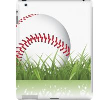 Baseball in the grass iPad Case/Skin