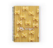 My Recipes - Pasta Spiral Notebook