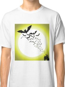 Bat silhouettes with full moon Classic T-Shirt