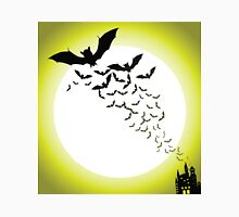Bat silhouettes with full moon Unisex T-Shirt