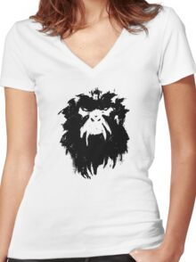 12 Monkeys - Terry Gilliam - Wall Drawing Black Women's Fitted V-Neck T-Shirt