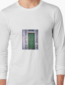 Crabby Door - Lunenburg Nova Scotia Long Sleeve T-Shirt