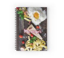 My Recipes - Pasta ingredients Spiral Notebook