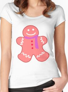 gingerbread woman Women's Fitted Scoop T-Shirt