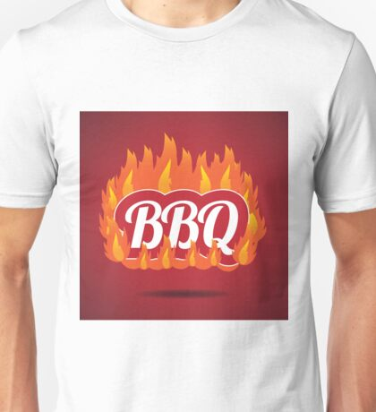 Flaming fiery BBQ symbol Unisex T-Shirt