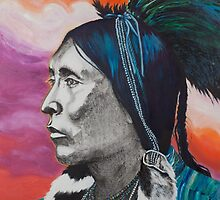 Nickel Icon - Indian Chief by jane lauren