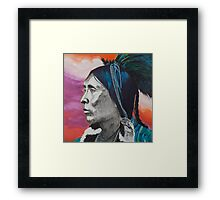 Nickel Icon - Indian Chief Framed Print