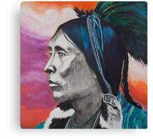 Nickel Icon - Indian Chief Canvas Print