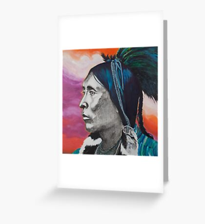 Nickel Icon - Indian Chief Greeting Card
