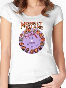 THE SECRET OF MONKEY ISLAND - DISC PASSWORD Women's Fitted Scoop T-Shirt