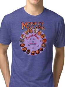 MONKEY ISLAND - DISC PASSWORD Tri-blend T-Shirt