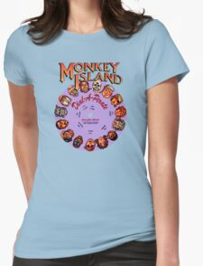 THE SECRET OF MONKEY ISLAND - DISC PASSWORD Womens Fitted T-Shirt