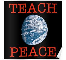 Teach Peace - One World Poster