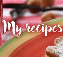 My Recipes - Xmas  Sticker
