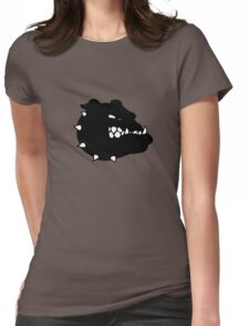 angry tough black bullgog Womens Fitted T-Shirt