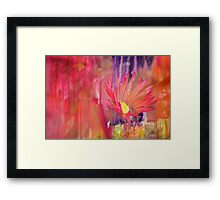 Semi Abstract Flower by Laura L. Leatherwood Framed Print
