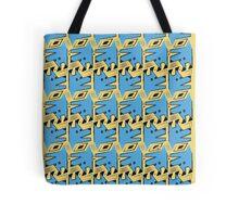 Blue Origami Dog Pattern  Tote Bag