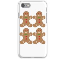 gingerbread pattern iPhone Case/Skin